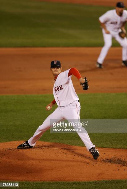 Clay Buchholz of the Boston Red Sox pitches against the Baltimore Orioles on September 1, 2007 at Fenway Park in Boston, Massachusetts. Buchholz...
