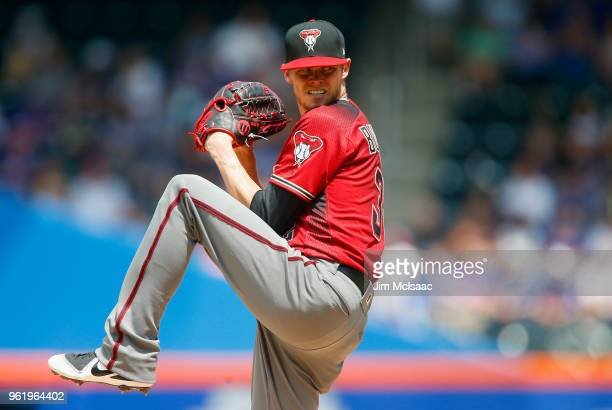 Clay Buckholz of the Arizona Diamondbacks in action against the New York Mets at Citi Field on May 20 2018 in the Flushing neighborhood of the Queens...