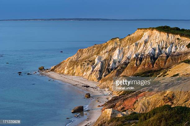 clay cliffs of aquinnah - marthas vineyard stock pictures, royalty-free photos & images