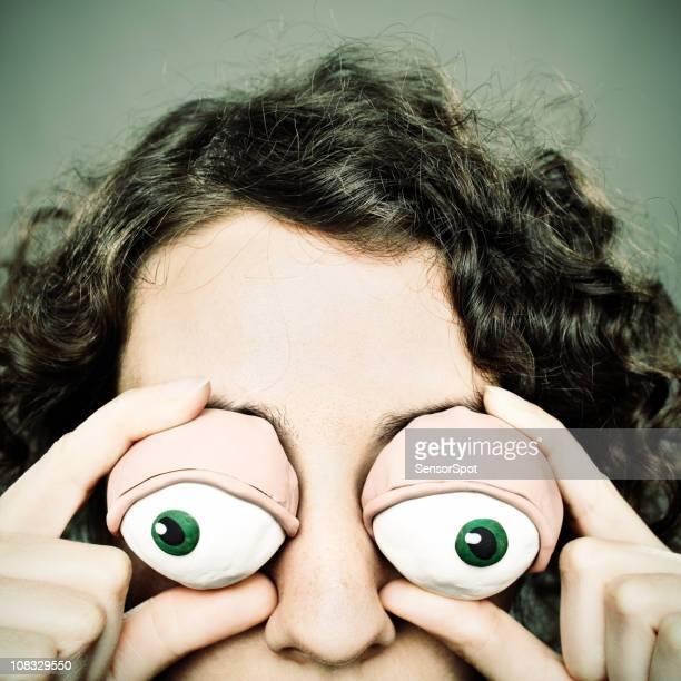 Clay eyes woman