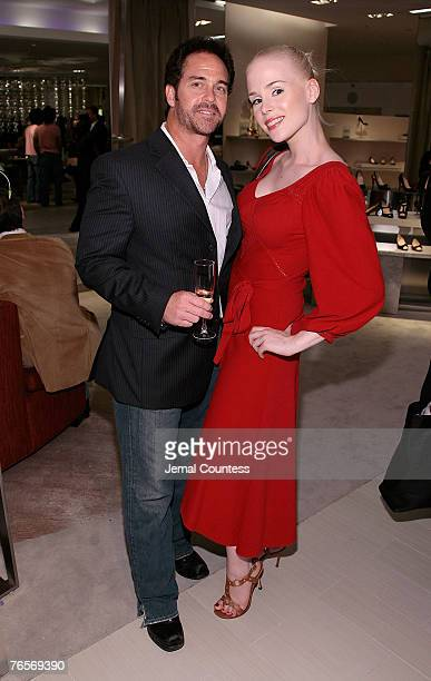 Clay Kahler and Ariane Sommer at the SHOE Launch Event With New Yorkers For Children at SAKS Fifth Ave on September 6 2007 in New York City