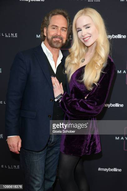 Clay Kahler and Ariane Sommer attend the Maybelline New York show 'Makeup that makes it in New York' during the Berlin Fashion Week Autumn/Winter...