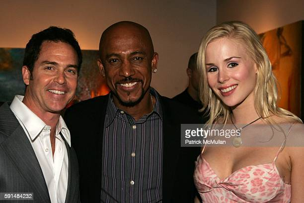 Clay Kahler Montel Williams and Ariane Sommer attend Rites of Passage Exhibit of the Paintings of Samantha Keely Smith to Benefit the Montel Williams...