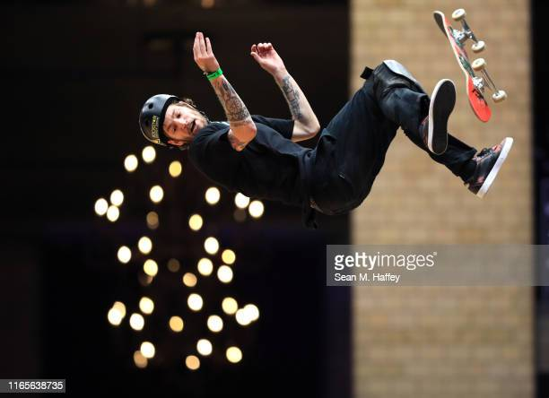 Clay Kreiner competes in the Skateboard Vert at the X Games Minneapolis 2019 at U.S. Bank Stadium on August 01, 2019 in Minneapolis, Minnesota.