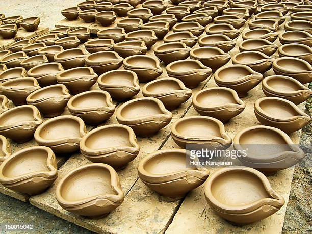 clay lamps - hema narayanan stock pictures, royalty-free photos & images