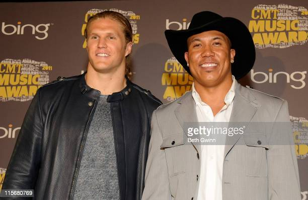 Clay Matthews and Hines Ward attends the 2011 CMT Music Awards at the Bridgestone Arena on June 8 2011 in Nashville Tennessee