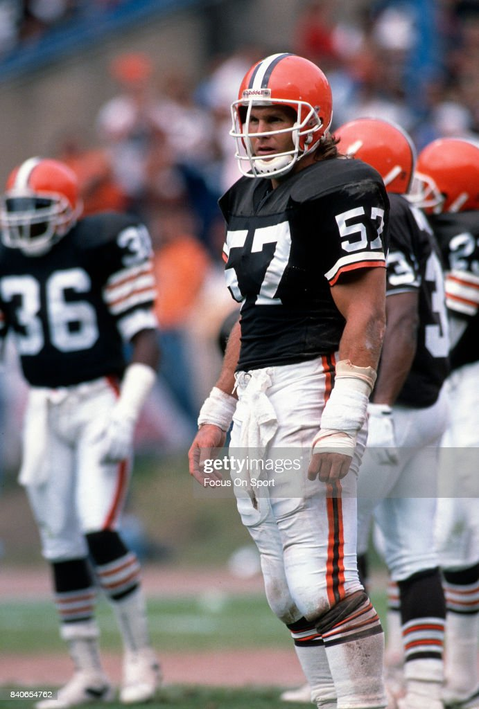 finest selection a380a c5c47 Clay Matthews Jr. #57 of the Cleveland Browns looks on ...