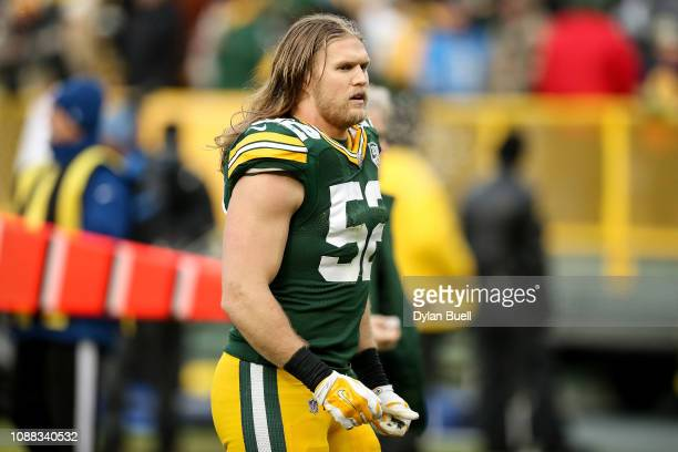 Clay Matthews of the Green Bay Packers walks off the field after losing to the Detroit Lions 310 at Lambeau Field on December 30 2018 in Green Bay...