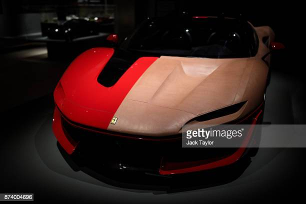 Clay Model of Ferrari J50 2015 on display at the 'Ferrari Under the Skin' exhibition at the Design Museum on November 14 2017 in London England £140M...