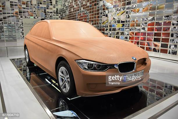 Clay model of the modern BMW car
