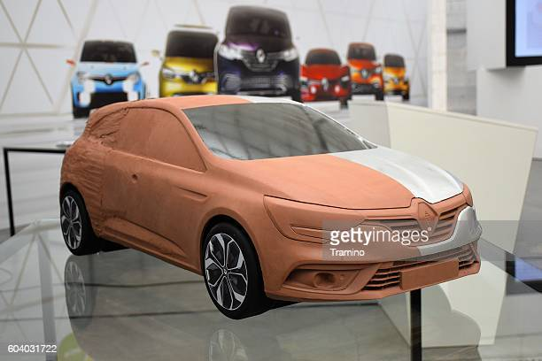Clay model of the modern car