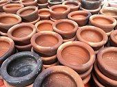 close up clay mortar market