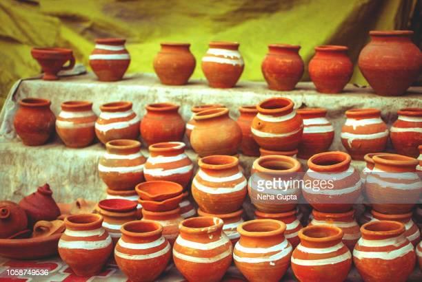 Clay Potteries - Diwali market, New Delhi, India