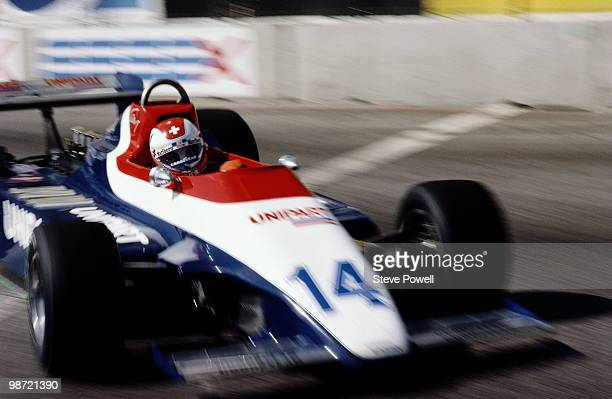 Clay Regazzoni drives the Unipart Racing Team Ensign N180 Ford during the United States Grand Prix West on 30 March 1980 at Long Beach street circuit...