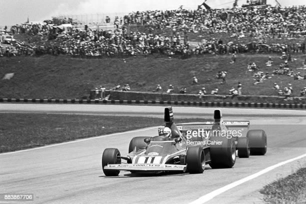 Clay Regazzoni Emerson Fittipaldi Ferrari 312B374 Grand Prix of Brazil Interlagos 26 January 1975