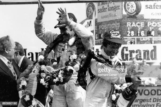 Clay Regazzoni Grand Prix of Great Britain Silverstone Circuit 14 July 1979 Clay Regazzoni celebrating the first ever Formula One victory of the...
