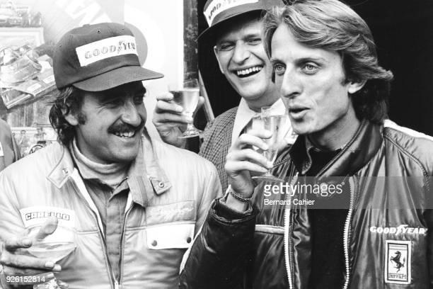 Clay Regazzoni Luca di Montezemolo Grand Prix of Germany Nurburgring 04 August 1974 Celebrating Clay Regazzoni's victory in the 1974 German Grand...