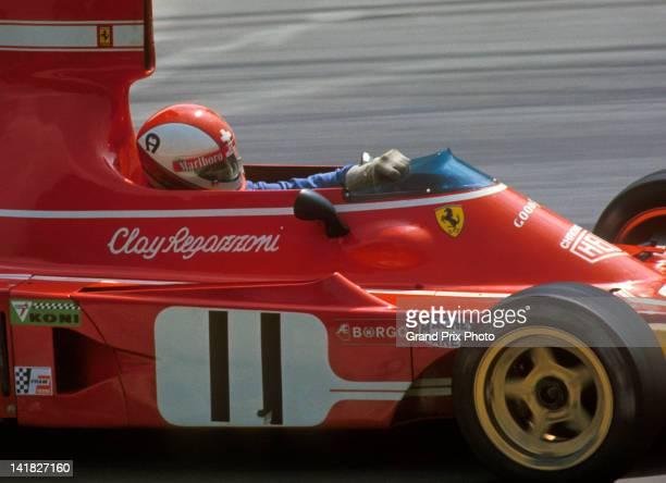 Clay Regazzoni of Switzerland drives the Scuderia Ferrari 312B3 Ferrari F12 during the 1974 Formula One Grand Prix season