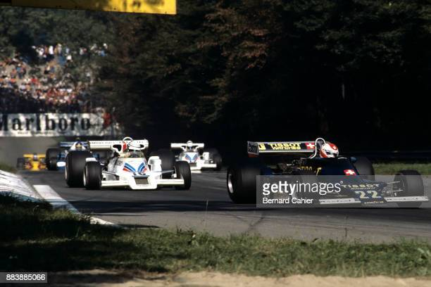 Clay Regazzoni Riccardo Patrese EnsignFord N177 ShadowFord DN8 Grand Prix of Italy Autodromo Nazionale Monza 11 September 1977