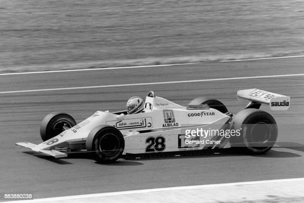 Clay Regazzoni WilliamsFord FW07 Grand Prix of Great Britain Silverstone Circuit 14 July 1979 Clay Regazzoni scored the first ever Formula One...