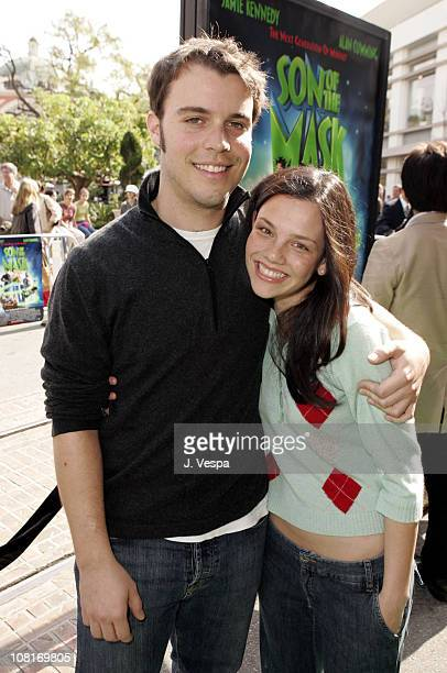 Clay Senechal and Misti Traya during Son of the Mask Los Angeles Premiere Green Carpet at The Grove in Los Angeles California United States