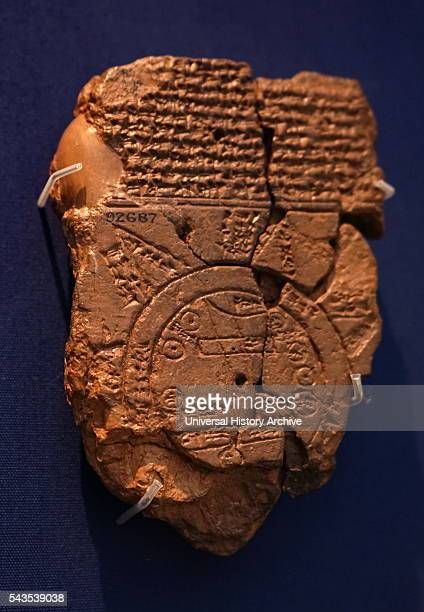 Clay tablet Babylonian map of the world Dated 700 BC