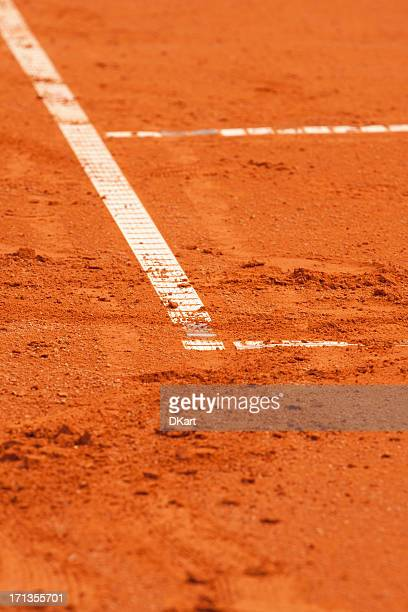 court de tennis sur terre battue - tennis photos et images de collection