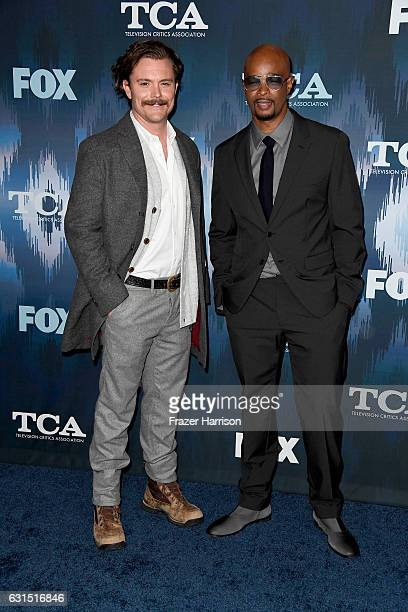 Clayne Crawford and Damon Wayans attend the FOX AllStar Party during the 2017 Winter TCA Tour at Langham Hotel on January 11 2017 in Pasadena...