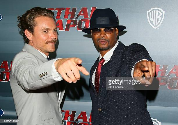 Clayne Crawford and Damon Wayans attend the premiere of Fox Network's 'Lethal Weapon' on September 12 2016 in Los Angeles California