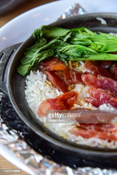 Claypot rice with Chinese sausage