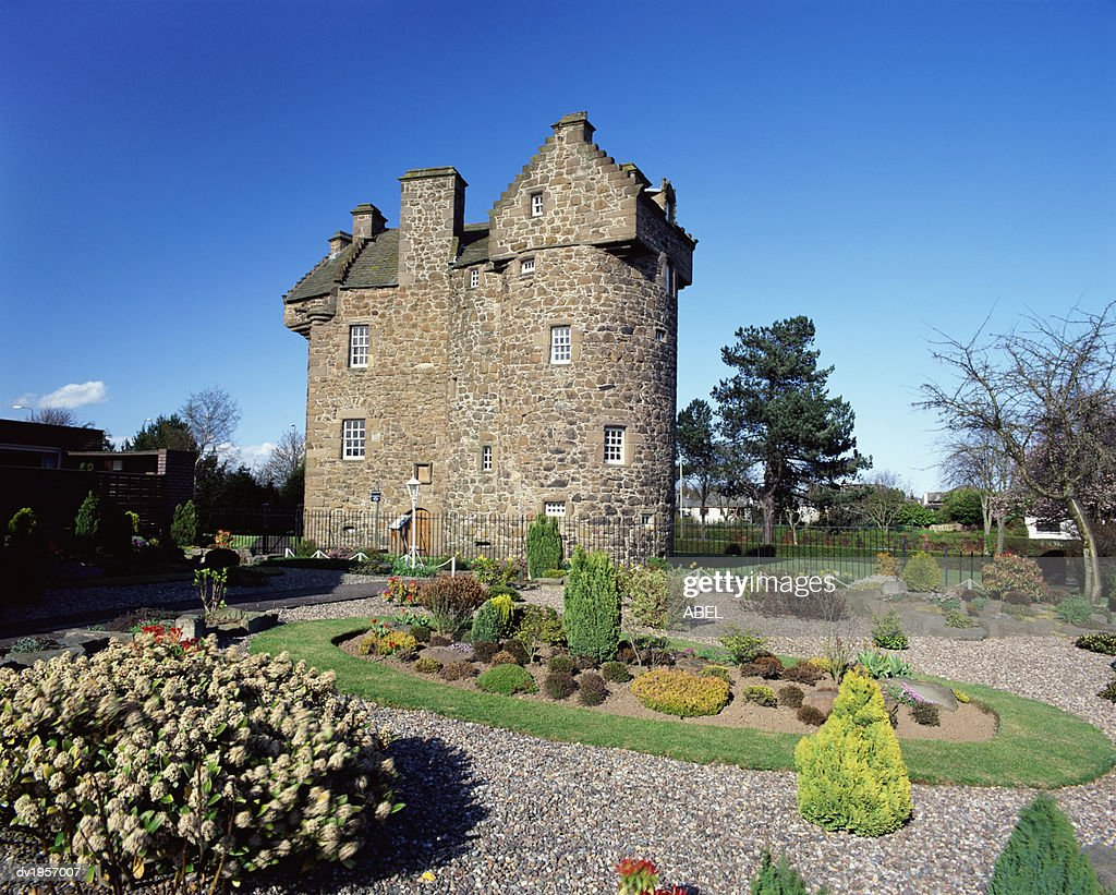 Claypotts Castle, Dundee, Tayside, Scotland : Stock Photo