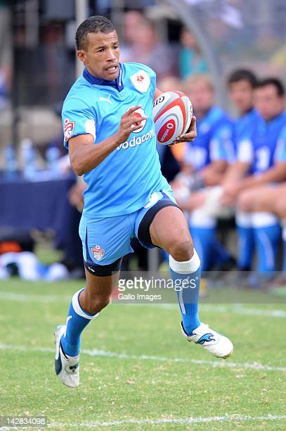 Clayton Blommetjies of the Blue Balls in action during the 2012 Vodacom Cup match between Vodacom Blue Bulls and Valke at Loftus B Field on April 13...