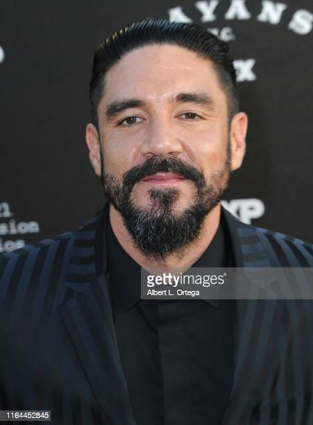 Clayton Cardenas arrives for the Premiere Of FX's Mayans MC Season 2 held at ArcLight Cinerama Dome on August 27 2019 in Hollywood California