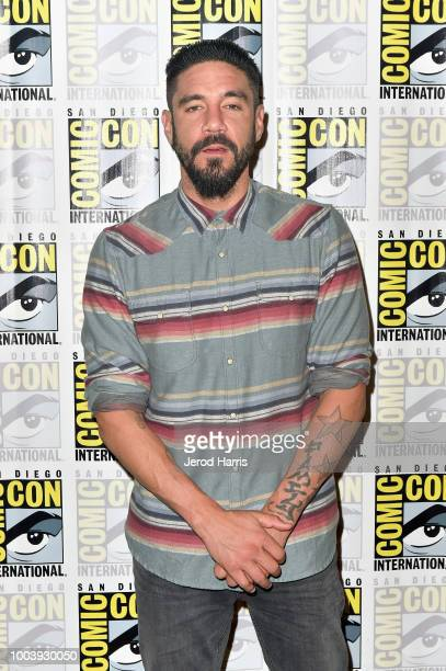 Clayton Cardenas attends FX's Mayans MC press line during ComicCon International 2018 at Hilton Bayfront on July 22 2018 in San Diego California