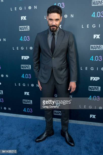 Clayton Cardenas attends the Legion Season 2 Premiere at DGA Theater on April 2 2018 in Los Angeles California