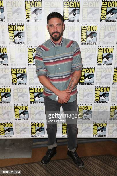 Clayton Cardenas attends the 'Mayans' press line during ComicCon International 2018 on July 22 2018 in San Diego California