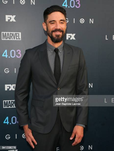 Clayton Cardenas attends the premiere of FX's 'Legion' Season 2 at DGA Theater on April 2 2018 in Los Angeles California