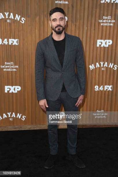 Clayton Cardenas attends the Premiere Of FX's Mayans MC held at TCL Chinese Theatre on August 28 2018 in Hollywood California