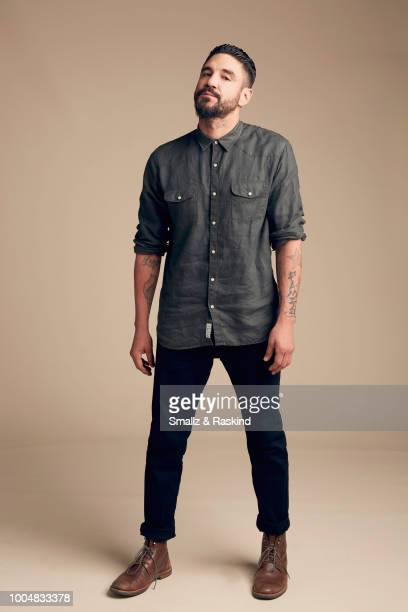 Clayton Cardenas from FX'S 'Mayans MC' poses for a portrait at the Getty Images Portrait Studio powered by Pizza Hut at San Diego 2018 Comic Con at...