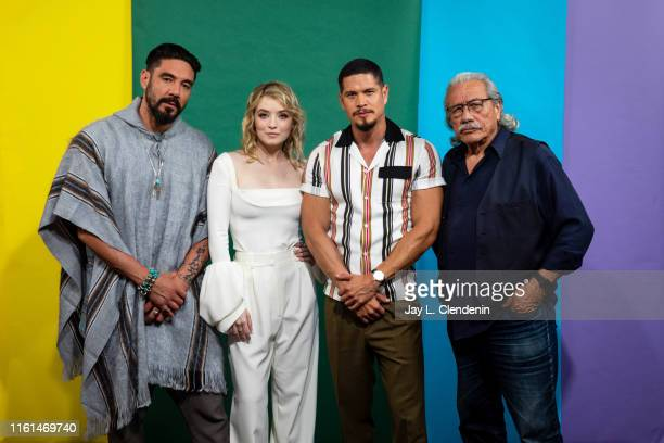 Clayton Cardenas Sarah Bolger JD Pardo and Edward James Olmos of 'Myans MC' are photographed for Los Angeles Times at ComicCon International on July...