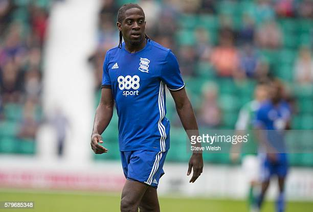 Clayton Donaldson in action for Birmingham City during the PreSeason Friendly between Hibernian and Birmingham City at Easter Road on July 24 2016 in...