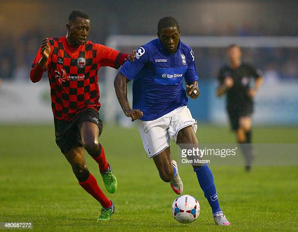 Clayton Donaldson of Birmingham City in action during the pre season friendly match between Nuneaton Town and Birmingham City at the James Parnell...