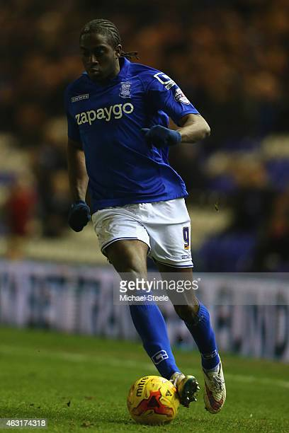 Clayton Donaldson of Birmingham during the Sky Bet Championship match between Birmingham City and Millwall at St Andrews on February 10 2015 in...