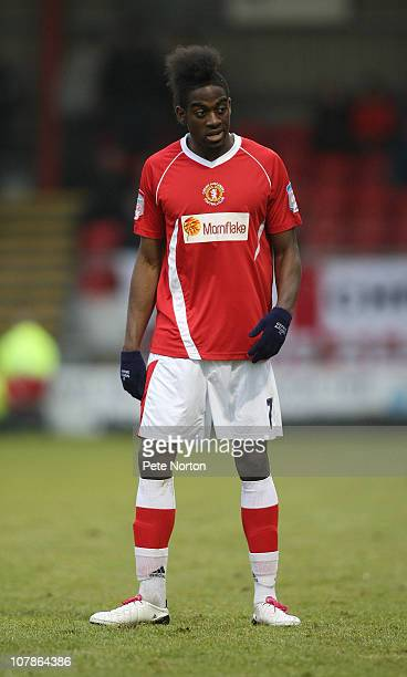 Clayton Donaldson of Crewe Alexandra in action during the npower League Two match between Crewe Alexandra and Northampton Town at the Alexandra...