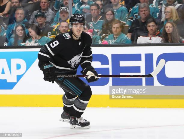 Clayton Keller of the Arizona Coyotes skates against the Central Division All-Stars during the 2019 Honda NHL All-Star Game at SAP Center on January...