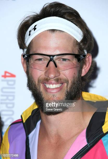 Clayton Kershaw arrives at the 6th Annual PingPong4Purpose at Dodger Stadium on August 23 2018 in Los Angeles California