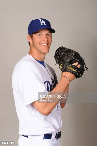 Clayton Kershaw of the Los Angeles Dodgers poses during photo day at Camelback Ranch on February 21 2009 in Glendale Arizona