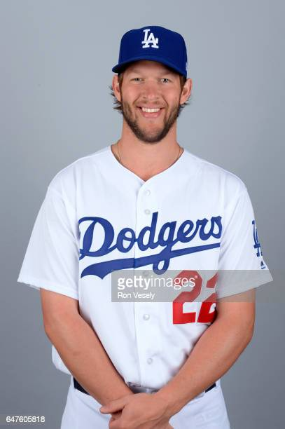 Clayton Kershaw of the Los Angeles Dodgers poses during Photo Day on Friday February 24 2017 at Camelback Ranch in Glendale Arizona