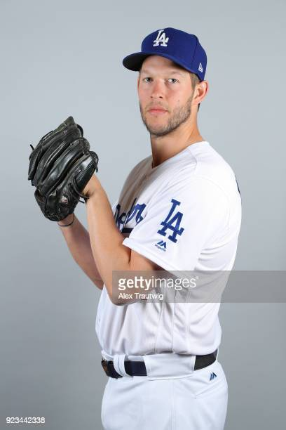 Clayton Kershaw of the Los Angeles Dodgers poses during Photo Day on Thursday February 22 2018 at Camelback Ranch in Glendale Arizona