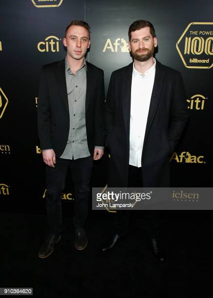 Clayton Knight and Harrison Mills attend 2018 Billboard Power 100 List at Nobu 57 on January 25 2018 in New York City